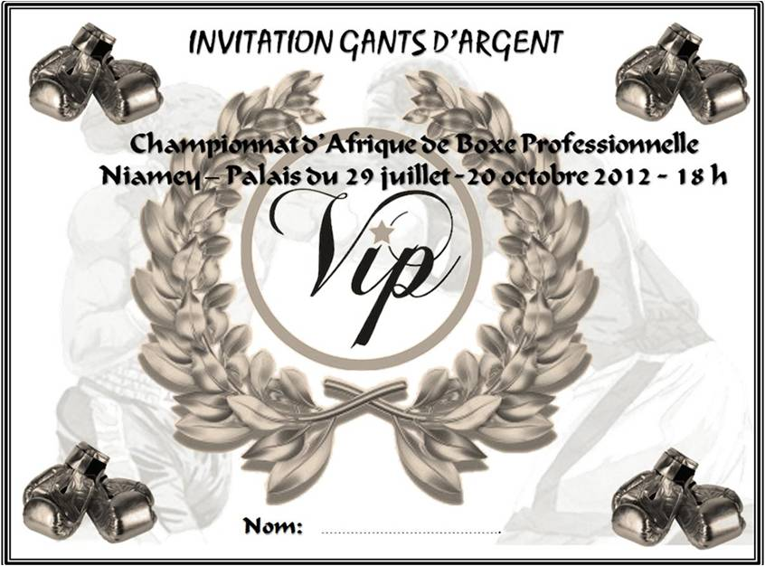 Inscription V.I.P