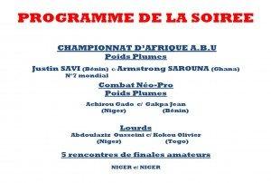 programme-de-la-soiree-300x202 dans Championnat d'Afrique de Boxe Professionnelle